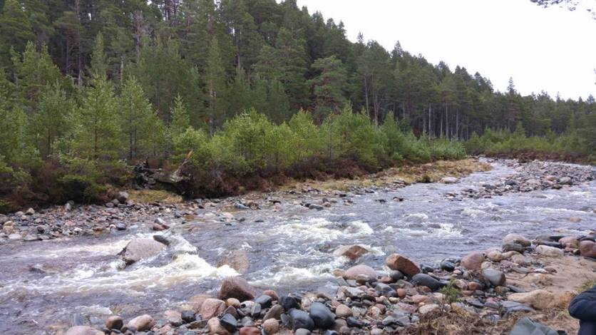 The Spey river in the Cairngorms